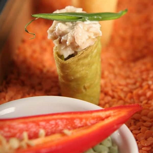 Baja Crab Salad in a Tortilla Cornucopia